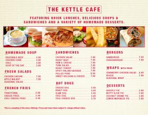 Kettle Cafe Menu