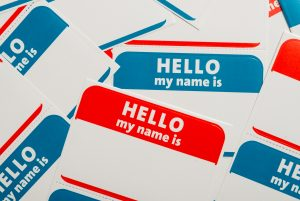 name yourself day - name tags