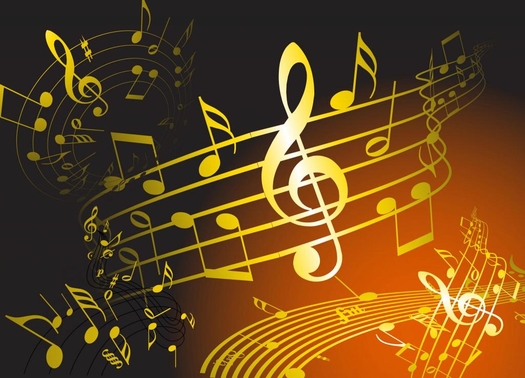 music notes background gold dark golden shows musical note theme theatre american amtshows