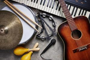top tribute acts - group of musical instruments
